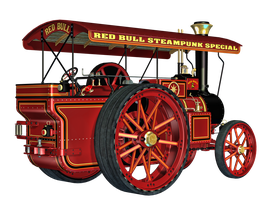 Steam Engine 01 PNG Stock by Roys-Art