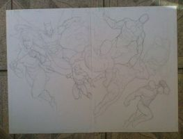 Sketch Justice League by MARCIOABREU7