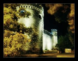 City walls at night 'Baku' by AzPhotographer