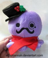 Christmas Gentleman Octoplush by egyptianruin