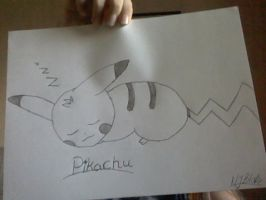 Sleepy Pikachu by Natalie02