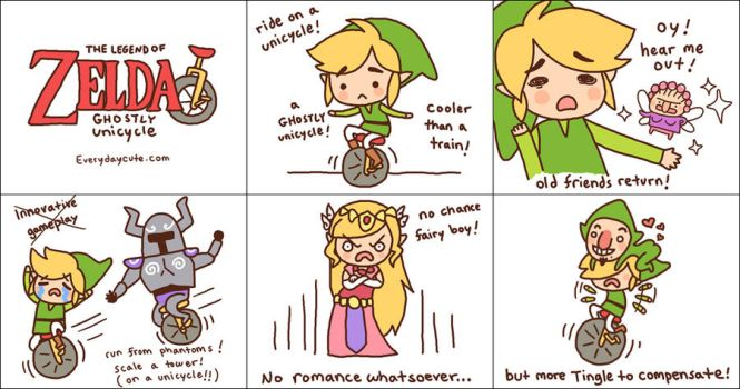 Comic3: Zelda Ghostly Unicycle by EverydayCute