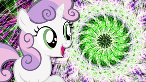 Happy Sweetie Belle Wallpaper by uxyd