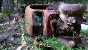 Bones Of An Old Car by PamplemousseCeil