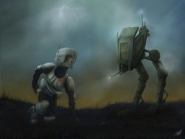Jay Cull iPad Painting - Star Wars Lost Trooper by Sithjcull