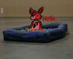 Foxy gets an extra hour in the ball pit by RadikinSkywalker