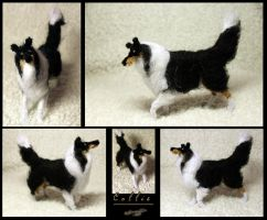 Needle felted collie by Saranna