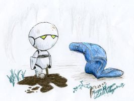 Marvin and Zem by RogueDragon