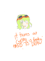 It turns out GUMI is hard to draw by Hime-Kyo