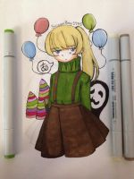 A Colorful and Mysterious Girl. by ScissorBoy1995