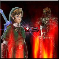 Link VS. Ganondorf by Black-Link