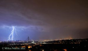 Lightning Over Belgrade by rottensky