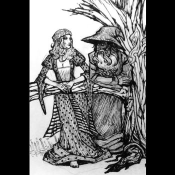 Gandalf and the Wench by DavidPatel