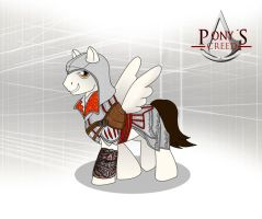 My little pony and assasins creed Ezio Auditore by chaos-dark-lord
