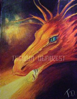 Smaug the dragon by TegwynDeForest
