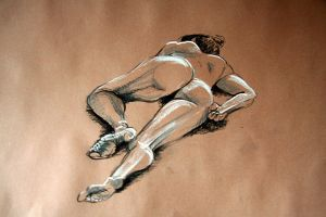 Reclining female nude 1 by scribbler