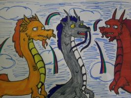 chinese dragons by wolfyykid
