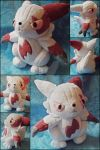 Zangoose Commissioned Plush by nightelfy