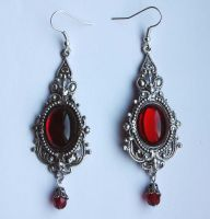 Victorian vampire earrings by Pinkabsinthe