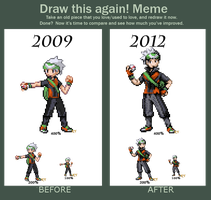 Draw this again! Brendan Sprite by ShinySeabass