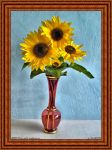 Vase with Sunflowers by PaSt1978