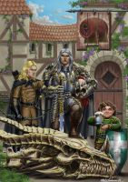 Drunken Dragon Inn adventurers by MatesLaurentiu