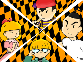 Persona 4 X Earthbound by Blue-and-Dog