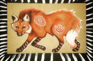 Tribal Maned Wolf by Lizzio