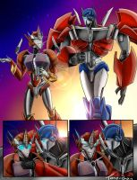 Causeway and Optimus Comic By: Tone-Chan by LadyElita-Arts
