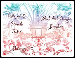 Folk and Stencil Set 3 by Sangre-brushes