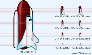 Space shuttle Icon by science-icons