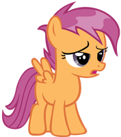 Wet mane Scootaloo #1 by sofunnyguy