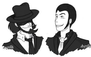 Lupin III and Jigen by Anna-MJM