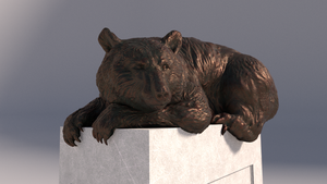 Black Bear Bronze Guardian Statue by rickycolson