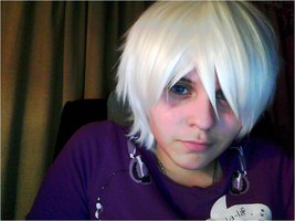 N-cosplay: wig + contacts test by lilajs