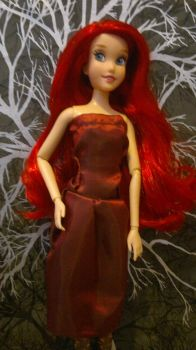 Sleeveless dress for dolls by Distant-Rain