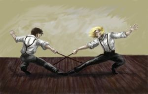 Enjolras + Grantaire - Matched by ColonelDespard