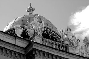Vienna Dome. Monochrome. by johnwaymont