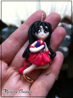 Sailor Mars - Handmade - Polymer Clay - Pendant by DarkettinaMarienne