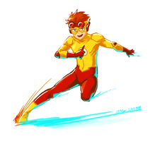 Kid Flash by akensnest