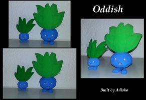 Oddish 1Normal size papercraft and 1 supersmall by Adisko