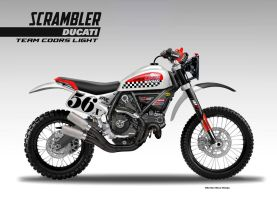 DUCATI SCRAMBLER BAJA RACER TEAM COORS LIGHT by obiboi