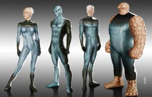 Fantastic Four redesign by Bonzulac