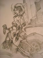 Biker Chick Two by UndamedWolf