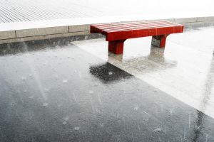 The Red Bench, Drenched by redenvelope