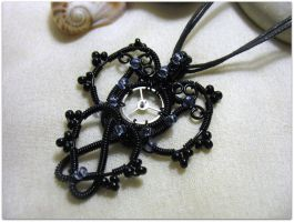 Steampunk Goth Pendant by MayaHandmade