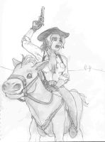Riding Cow Girl by paulrik