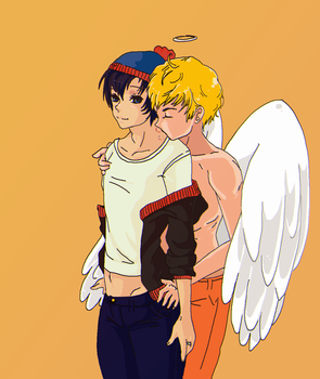 kenny x stan, stenny :3 by ChubbyCollections