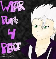 Wear purple for peace day by PanMarlon