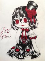 .:ART TRADE:. Red snow by xXMulti-Bunny-ChanXx